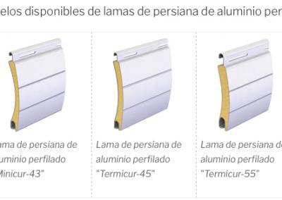 17 Lamas de Aluminio